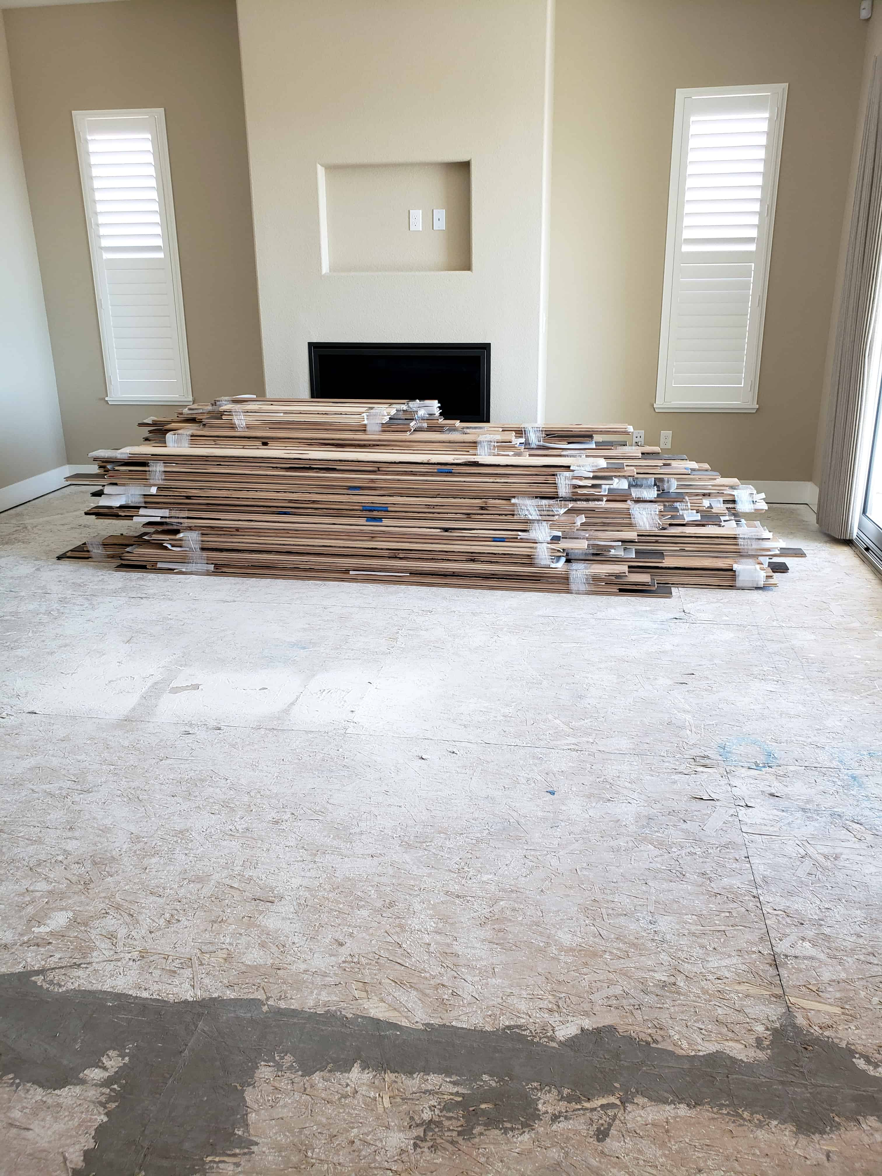 Acclimating The Hardwood Floors