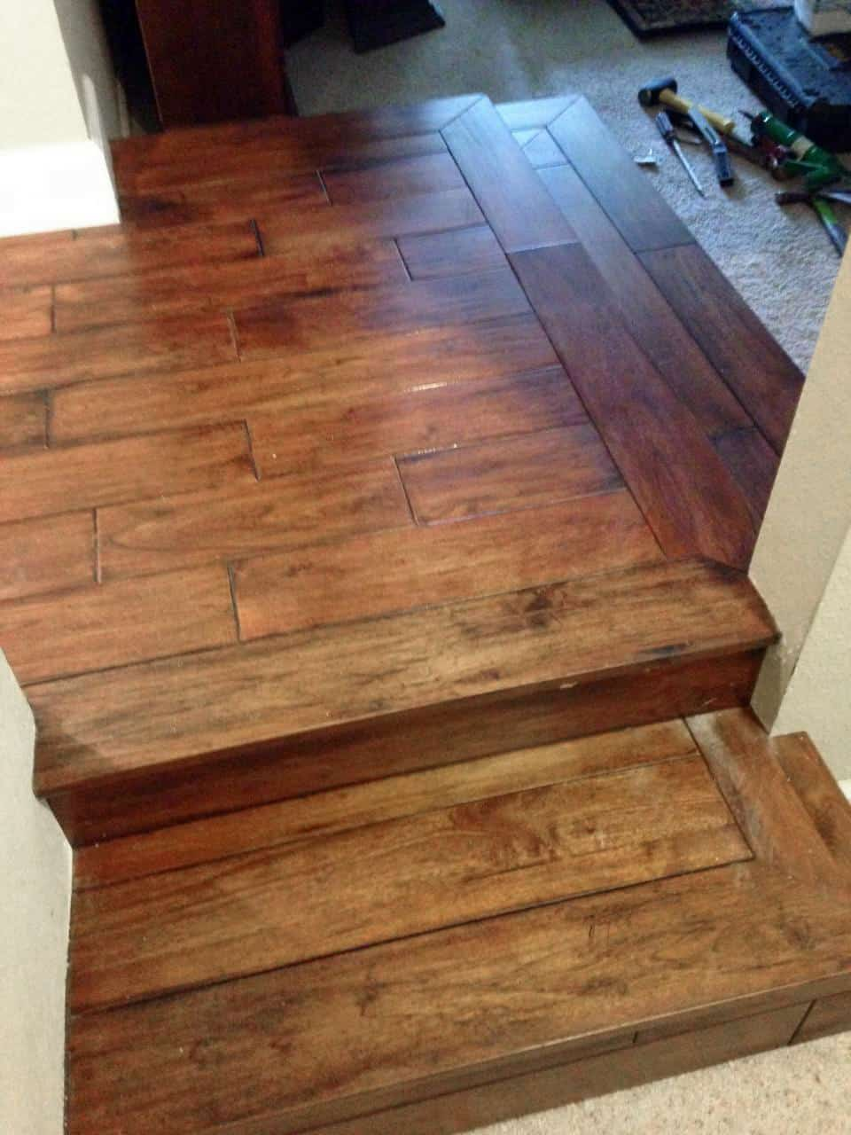 Wide Plank Stairs