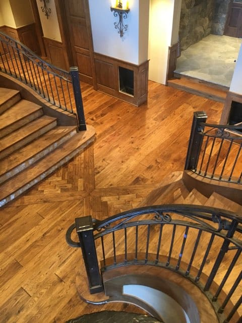 Custom In-Lay & Matching Stairs And Floors